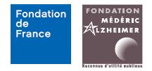 Visuel des logos Fondation de France et Fondation Médéric Alzheimer