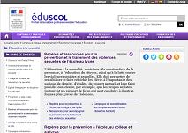 Eduscol ressources prévention violences sexuelles en milieu scolaire