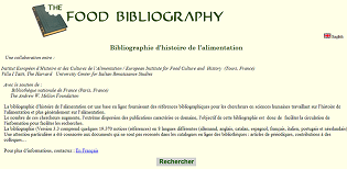 the food bibliography